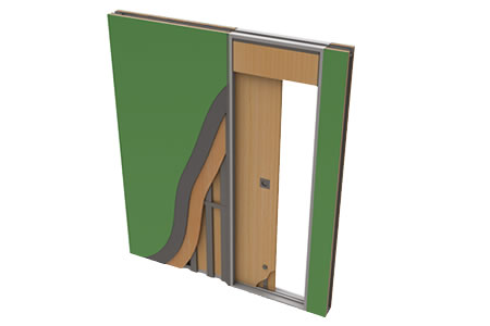 Pocket door solution's many features