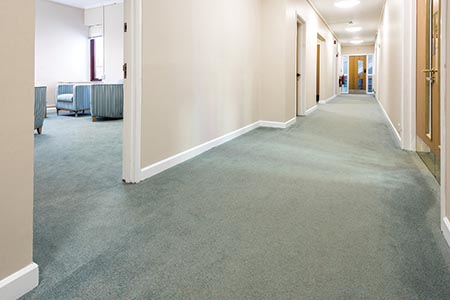 Carpeting affords many therapeutic benefits