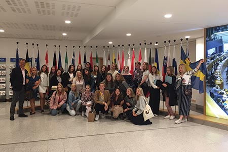 Taking community learning to the European Parliament