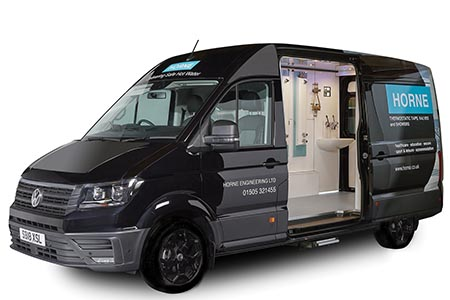 Show van with innovation on tap