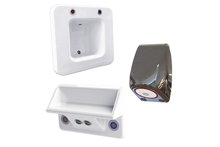 Water-saving and washroom products